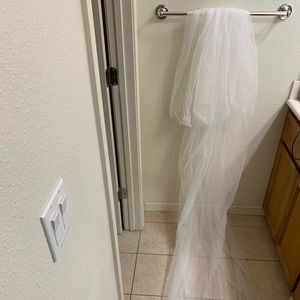 Double Tier Weeding Veil with Comb